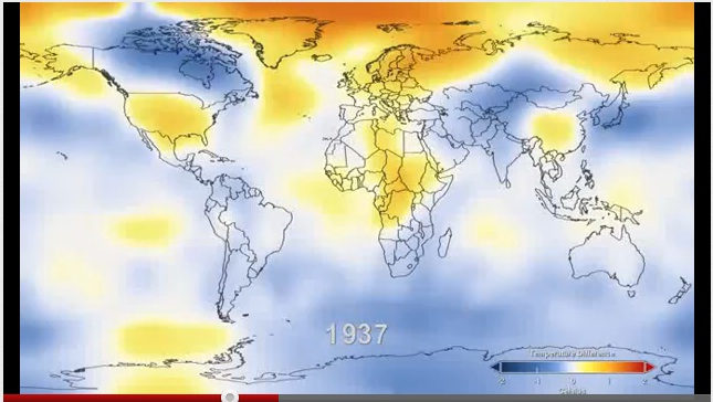 Screenshot of NASA's climate measuring video.